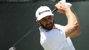 Dustin Johnson was one of just four players to shoot an under-par opening round at the US Open golf.(AFP)