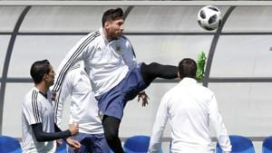 Lionel Messi could play in the FIFA World Cup for the last time in Russia but coach Jorge Sampaoli has downplayed those fears ahead of Argentina's clash against Iceland.(AP)