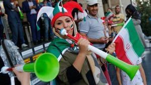 Iranian women travel 4,000 km to watch FIFA World Cup in Russia
