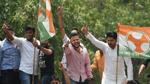 The Youth Congress and the National Students Union of India are among the five frontal organisations of the Congress.(AFP Photo)