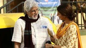 Actor Amitabh Bachchan and his daughter Shweta Bachchan during shooting of their jewellery ad in Mumbai.(IANS)