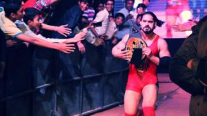Freak Fighter Wrestling's Prince Aadvanshi aka Prince of Aggression makes an entrance at a live event in Delhi.