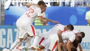Get full score of the FIFA World Cup 2018 match between Costa Rica and Serbia here. Serbia win their first World Cup 2018 match by a solitary goal.(AP)
