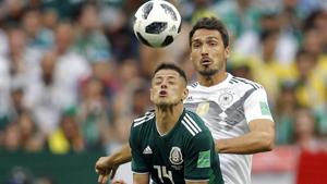 Germany's Mats Hummels gave the ball away for the Mexico goal in their opening Group F match of the FIFA World Cup 2018.(AP)