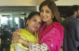 Actor Shilpa Shetty Kundra at actor Shabana Azmi's Eid celebrations. (Instagram)