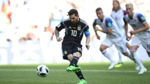 Lionel Messi missed a penalty for Argentina in their FIFA World Cup 2018 Group D match against Iceland last week.(REUTERS)