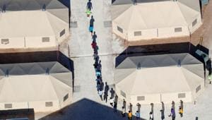 Immigrant children, many of whom have been separated from their parents under a new