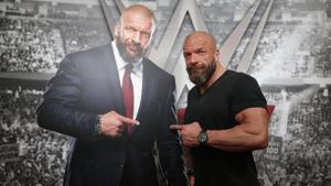 WWE Executive Vice President of Talent, Live Events and Creative Paul 'Triple H' Levesque - seen here posing with a cardboard cutout of himself - is optimistic about the growth of the brand in India.(WWE)