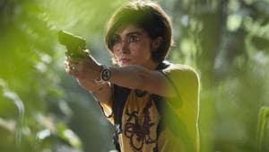 Daniella Pineda in a still from Jurassic World: Fallen Kingdom.