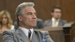 This image released by Vertical Entertainment shows John Travolta in a scene from Gotti.(AP)