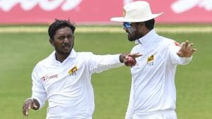Sri Lanka captain Dinesh Chandimal was found guilty of ball-tampering during the second Test against West Indies.(AFP)