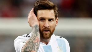 Lionel Messi reacts after Argentina's 3-0 loss against Croatia in the FIFA World Cup 2018 on Thursday.(REUTERS)