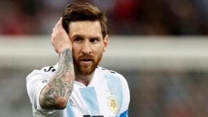 Argentina's Lionel Messi looks dejected after the FIFA World Cup 2018 Group D match vs Croatia at the Nizhny Novgorod Stadium, Nizhny Novgorod, Russia on June 21, 2018.(REUTERS)