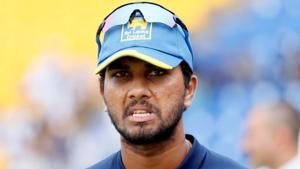 Dinesh Chandimal was given two suspension points and fined 100 per cent of his match fee after the second Test between Sri Lanka and West Indies in Gros Islet.(AFP)