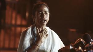 West Bengal chief minister Mamata Banerjee in New Delhi.(Burhaan Kinu/HT File Photo)
