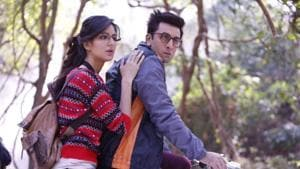 Ranbir Kapoor and Katrina Kaif in a still from Jagga Jasoos, a film by Anurag Basu, which picked up as many as three awards in the technical category at IIFA Rocks in Bangkok on Friday.