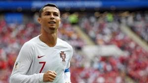 Cristiano Ronaldo is playing in his fourth World Cup and currently, he is the joint-highest goal-scorer for Portugal in the FIFA World Cup 2018.(AFP)
