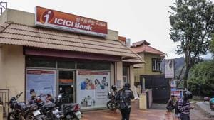 An ICICI Bank Ltd. branch stands in Ooty, Tamil Nadu.(Dhiraj Singh/Bloomberg)
