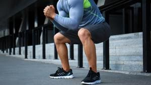 Best exercise to lose weight: Doing squats help you work your thighs, glutes, calves and seat.(Shutterstock)