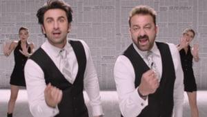 Ranbir Kapoor and Sanjay Dutt in a still from the Sanju song, Baba Bolta Hain Bas Ho Gaya.