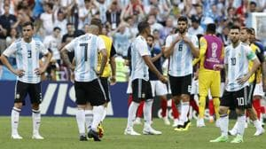 Argentina were defeated by France in their FIFA World Cup 2018 Round of 16 encounter on Saturday.(AP)