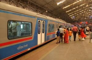In less than five months since its launch, Mumbai's air-conditioned train service carried more than 10 lakh commuters.(HT Photo)