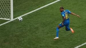 Neymar scored his first goal of the FIFA World Cup 2018 against Costa Rica in injury time.(Reuters)