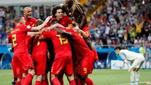 Get highlights of Belgium vs Japan, FIFA World Cup 2018 Round of 16 match here. Belgium come from two goals down to beat Japan 3-2.(REUTERS)