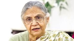 Sheila Dikshit was the chief minister of Delhi for three terms between 1998 and 2013.(HT File)