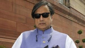 Member of Parliament from Thiruvananthapuram, Kerala Shashi Tharoor leaves after attending the Parliament's monsoon session at Parliament House in New Delhi, India on Wednesday, July 22, 2015 (Sonu Mehta/HT Photo)