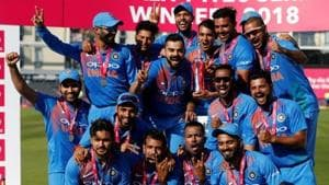 India defeated England by seven wickets in Bristol to clinch the three-match T20 series 2-1.(REUTERS)