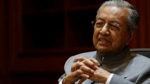 Malaysia's Prime Minister Mahathir Mohamad speaks during an interview with Reuters in Putrajaya, Malaysia June 19, 2018.(Reuters File Photo)