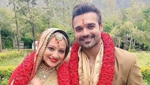 Mimoh Chakraborty and Madalsa Sharma got married on July 10.(Mahaakshay/Instagram)