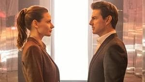 Tom Cruise and Rebecca Ferguson in a still from Mission Impossible Fallout.