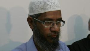Islamic preacher Zakir Naik(HT photo)