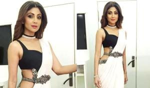 We're fawning over Shilpa Shetty Kundra's beautiful lace ensemble. See it below. (Instagram)