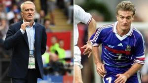 France's head coach Didier Deschamps (L) won the FIFA World Cup as players in 1998 (right).(AFP)