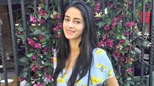 Ananya Panday proves metallic jeans are one of the easiest and chic ways to stand out. See her shiny pants below. (Instagram)
