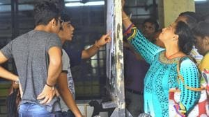 The second merit list for admissions to junior colleges in the city was scheduled to be out at 11am on Monday.(HT Photo)