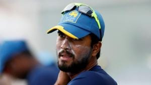The sanction relates to an incident where the 28-year-old Dinesh Chandimal was found guilty of changing the condition of the ball during the second day's play of the second Test against West Indies at Gros Islet last month.(REUTERS)
