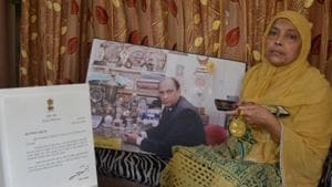 Mohammad Shahid's wife Parveen is happy that the promises made haven't been kept.(HT Photo)