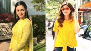 Alia Bhatt and Shilpa Shetty Kundra make a case for yellow. See their looks below. (Instagram)