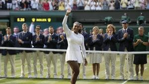 Serena Williams, after she lost the Wimbledon final to Germany's Angelique Kerber, in London, July 14, 2018(AP)