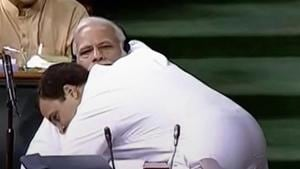 A curious case of arms engaging in hug-lomacy that saw political heads minding their 'P's and cues'.(HT Photo)
