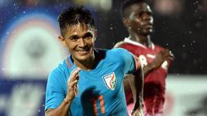 Sunil Chhetri plays his club football for Bengaluru FC(PTI)