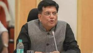 Finance Minister Piyush Goyal speaks as MoS Finance Shiv Partap Shukla (R) and Finance Secretary Hasmukh Adhia look on during the 28th Meeting of the Goods and Services Tax Council (GST) at Vigyan Bhawan, in New Delhi.(PTI File Photo)