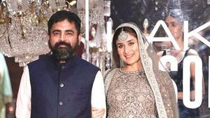 Fashion designer Sabyasachi Mukherjee with actor Kareena Kapoor Khan at Lakme Fashion Week 2016. (IANS File Photo)