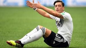 Mesut Ozil, criticized for his controversial photograph with Turkish President Recep Tayyip Erdogan, said on July 22, 2018 that he will quit the Germany national football team.(AFP)