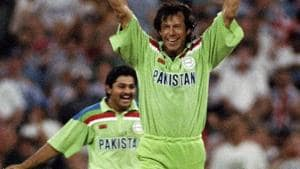 Imran Khan was the skipper when Pakistan won the 1992 ICC World Cup title.(Getty Images)