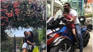 Loveliness of being: Kajol with her teenaged daughter, Nysa, as they vacation with Ajay Devgn and their young son Yug in London.(Instagram)